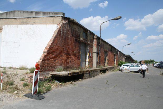 Alter Zollschuppen - hier ist künftig die Mitte des Quartiers. Foto: Ralf Julke