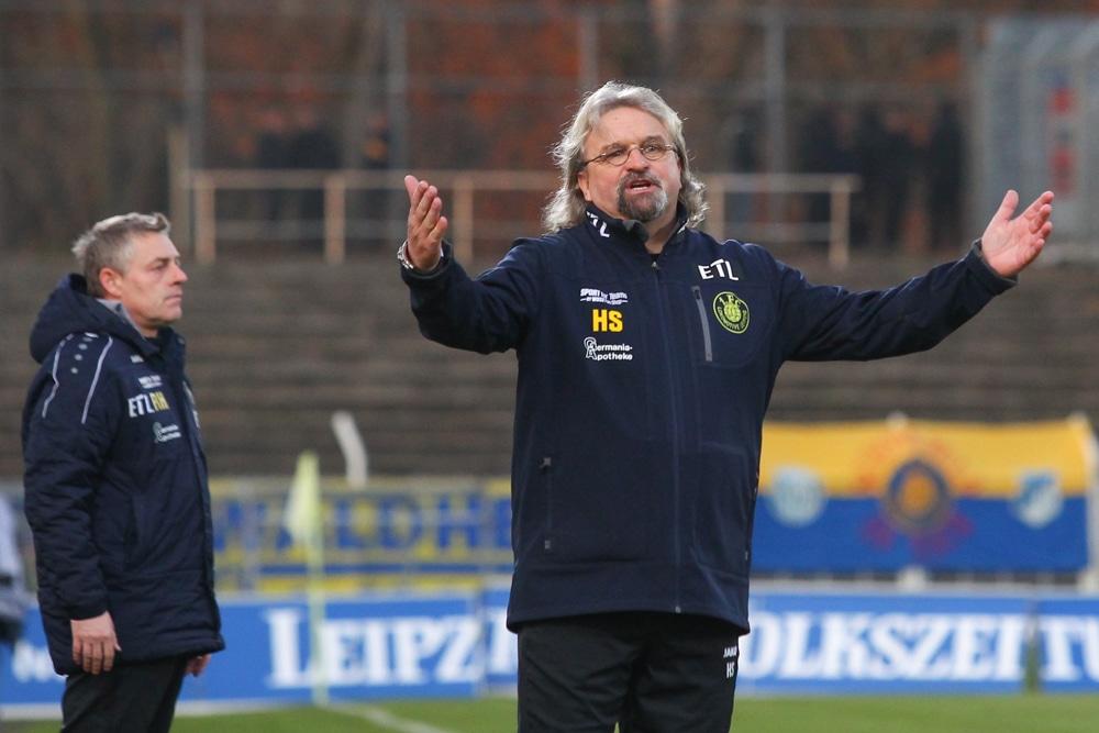 Heiko Scholz in seiner Zeit als Trainer bei Lok. Foto: Jan Kaefer (Archiv)