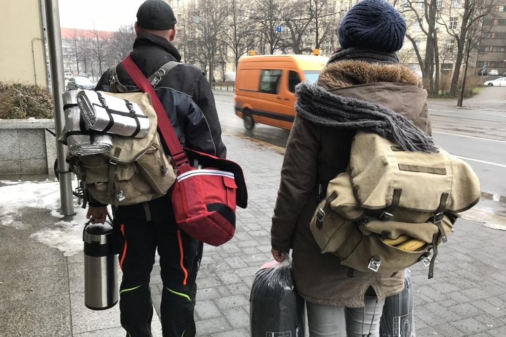 Auf zur nächsten Runde! Mit Carebags durch die Innenstadt. Foto: TiMMi ToHelp e.V.