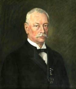 Bürgermeister Karl Rothe führte Leipzig ab 2. Januar 1918 bis 1930 durch die letzten Monate des Krieges. Foto: Gemäldeabbildung, Gemeinfrei
