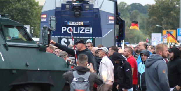 Seit dem 26. August eskalierte die Stimmung in rechtsradikalen Kreisen um Chemnitz. Foto: L-IZ.de