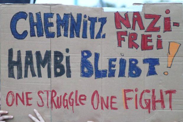 Chemnitz war auch am 1.09. natürlich nicht nazifrei. Foto: L-IZ.de