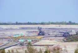 Der Tagebau Vereinigtes Schleenhain soll das Dorf Pödelwitz schlucken. Foto Luca Kunze