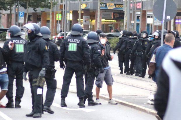 Ein Chemnitzer fordert betrunken die Polizei heraus. Foto: Michael Freitag