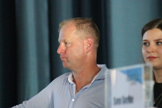 IFL-Geschäftsführer André Krüll beim Presse- und Fangespräch. Foto: Michael Freitag