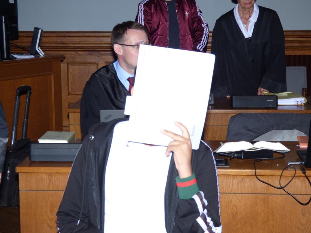 Mahmoud M. (16), jüngster Angeklagter. Foto: Lucas Böhme