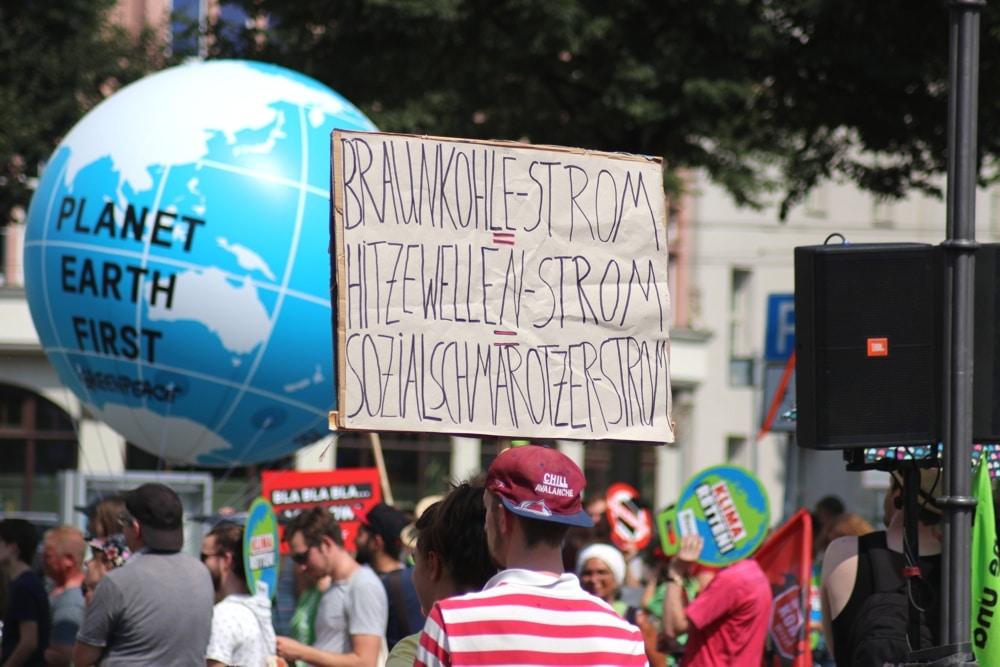 Auf der Klimacamp-Demo in Leipzig 2018. Foto: Michael Freitag