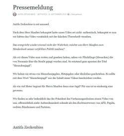 """Mitteilung des Users """"Antifa Zeckenbiss"""" vom 12. September 2018. Quelle: twitter.com/AZeckenbiss"""
