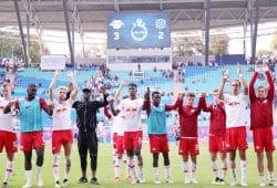 Freude über den ersten Bundesligasieg in dieser Saison. Foto: GEPA Pictures