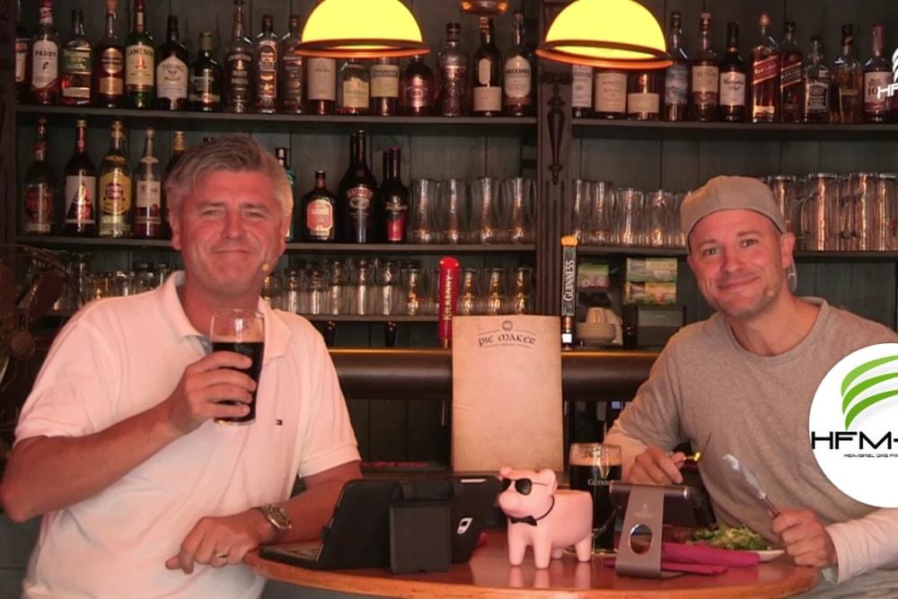 Norman Landgraf (li.) und Martin Hoch sportlich im