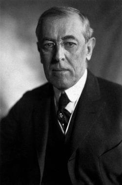 Thomas Woodrow Wilso. Foto: Harris Ewing 1919, Gemeinfrei