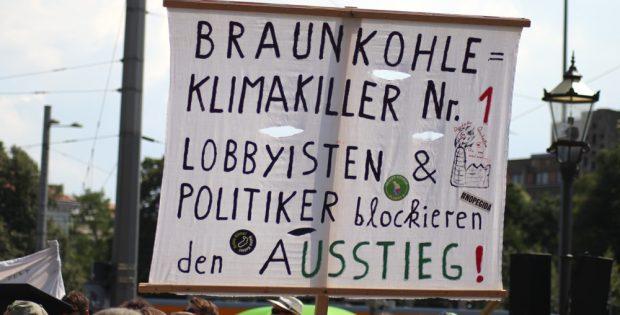 Kohleprotest-Demo in Leipzig. Foto: Michael Freitag