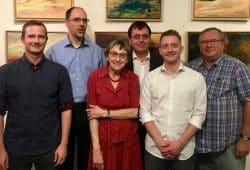 v.l.n.r.: Tino Bucksch, Matthias Reichmuth, Ursula Hein, Michael Wagner, Hannes Meißner, Günter Krap. Foto: Bürgerverein Gohlis e.V.