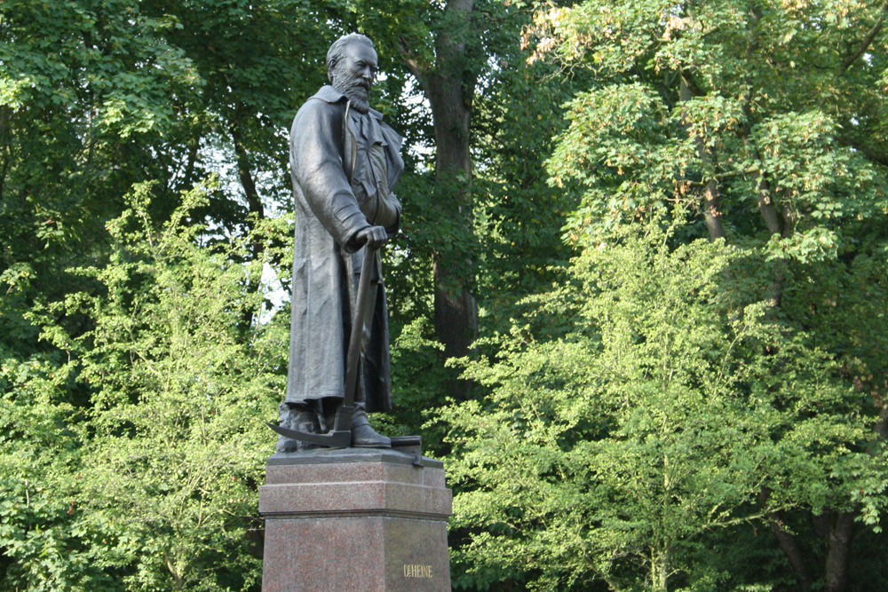 Carl-Heine-Denkmal am Palmengarten. Foto: Ralf Julke
