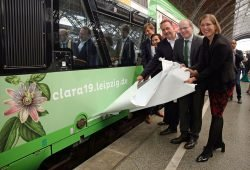 Enthüllung des CLARA19-Zuges. Foto: Andreas Schmidt / LTM