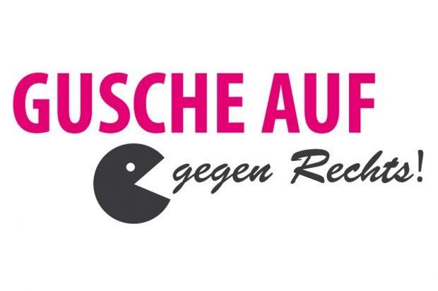 Kampagnenmotiv. Grafik: Gusche auf - gegen Rechts!