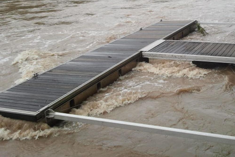 Hochwasser. Foto: Marko Hofmann