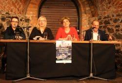 Pressekonferenz mit Gundula Lasch, Franka Reinhart, Gabriele Goldfuß und Steffen Birnbaum. Foto: Ralf Julke