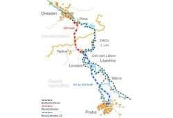 Die geplante Neubaustrecke nach Prag. Grafik: Freistaat Sachsen, SMWA