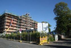 Baustelle der Schule am Opferweg. Foto: Ralf Julke