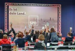 Die SPD Sachsen auf ihrem Landesparteitag am 27. und 28. Oktober in Dresden. Foto: Marco Arenas