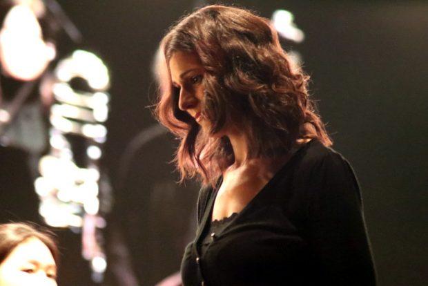 Eva Meitner am 9. Oktober 2018 zum Beginn ihres Auftritts mit dem Freien Orchester Leipzig. Foto: L-IZ.de
