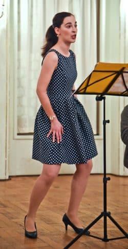 Anna Fey bei der Neuaufführung im November 2017. Foto: Gerhard Weber