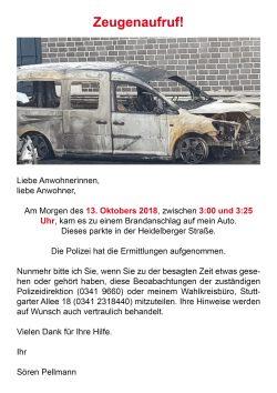 Sören Pellmann bittet um Hinweise an die Polizei. Screen twitter.com/LINKEPELLI