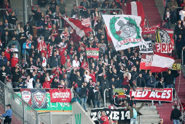 RBL-Fans in Augsburg. Foto: GEPA Pictures