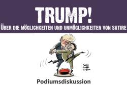 Poster Podiumsdiskussion mit Schwarwel. Quelle: American Studies Leipzig