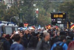 Pro Chemnitz und AfD gemeinsam am 1. September 2018 in Chemnitz. Foto: L-IZ.de