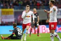 Werner bejubelt eines der zahlreichen RBL-Tore gegen Nürnberg. Foto: GEPA Pictures