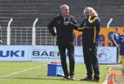 WRZ im Gespräch mit Trainer Heiko Scholz: Beide sind inzwischen nicht mehr in Amt und Würden. Foto: Jan Kaefer