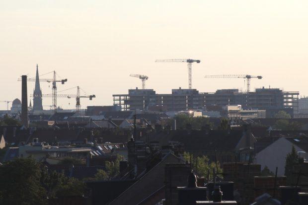 Leipzig 2018. Tanz der Krähne, wenn wenige viel bauen. Foto: Michael Freitag