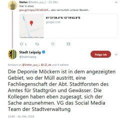 Auf Twitter läuft ein anfänglich zäher Vorgang plötzlich rascher. Screen twitter.com/LIZ_de
