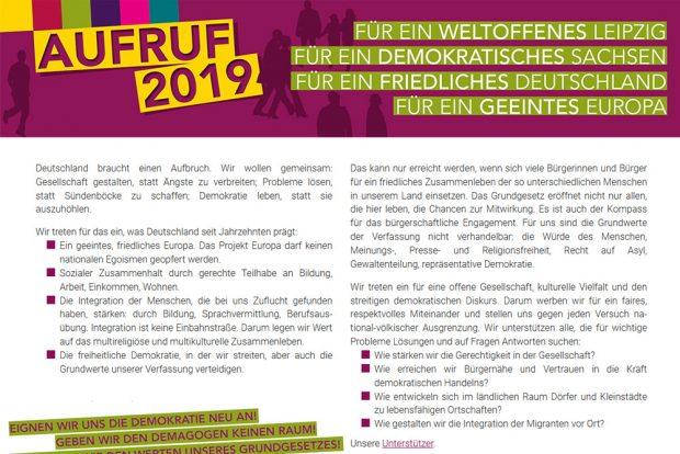 """Der """"Aufruf 2019"""". Screenshot: L-IZ"""