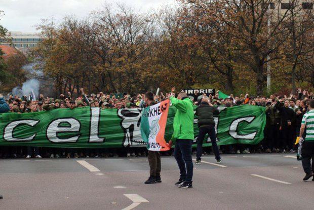 "Die ""Bhoys"" sind in der Stadt. Foto: L-IZ.de"