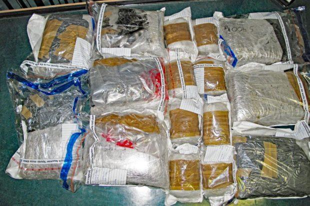 Beschlagnahmte Ladung an Betäubungsmitteln. Foto: PD Leipzig