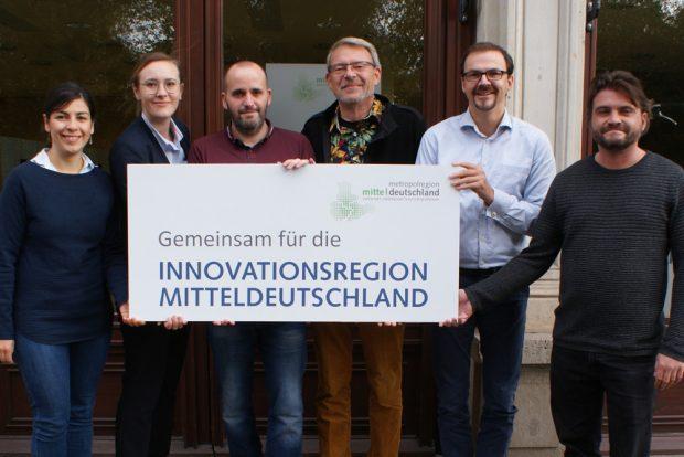 Rita Schröck, Julia Mayer, Kai Bieler, Werner Bohnenschäfer, Henning Mertens, Johannes Gansler. Foto: Metropolregion Mitteldeutschland/ Schomaker