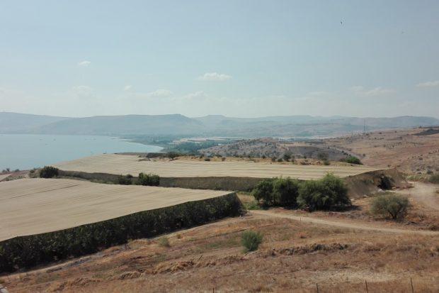 """""""Berg der Seligpreisung"""" – Blick auf das Jordantal und den See Genezareth. Foto: Jens-Uwe Jopp"""