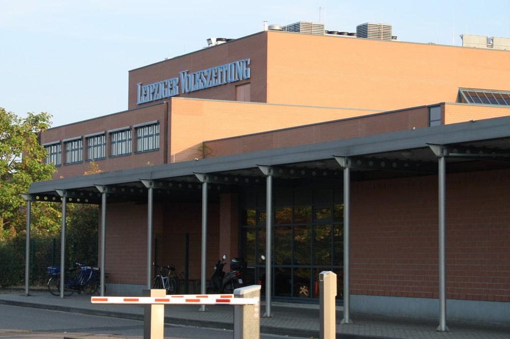 Die LVZ-Druckerei in Stahmeln. Foto: Ralf Julke