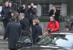 Angela Merkel beim Leipzigbesuch 2011. Foto: Ralf Julke