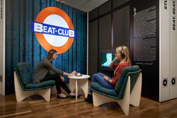 Ausstellungsecke Beat-Club. Foto: Martin Luther, Stadtgeschichtliches Museum Leipzig