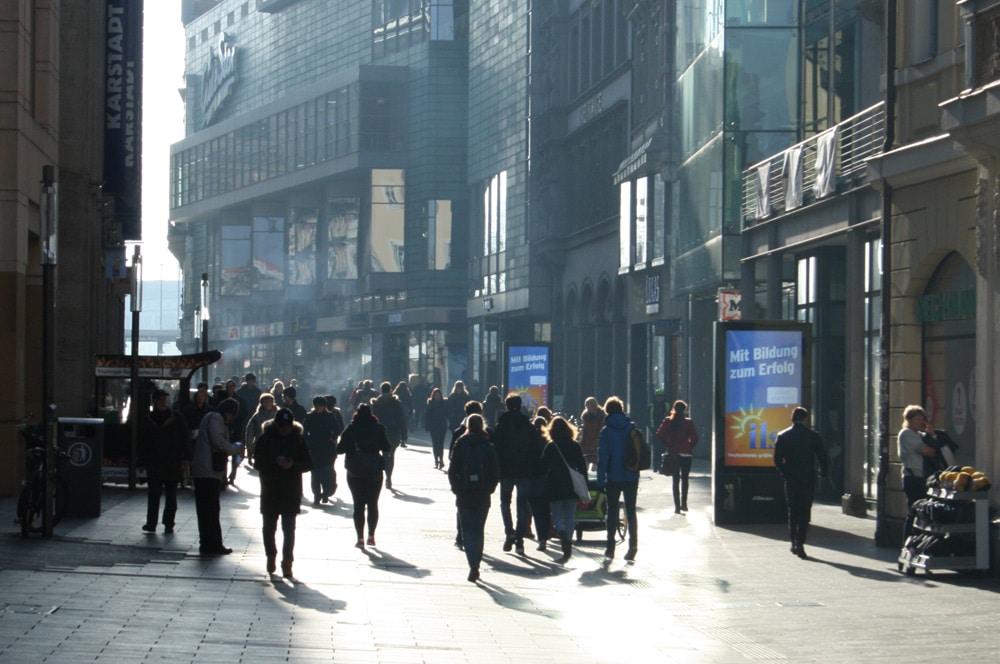Fußgängerzone Petersstraße. Foto: Ralf Julke