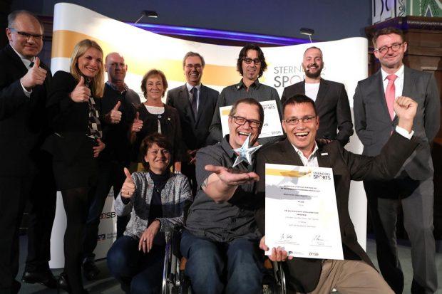 """Sterne des Sports in Silber, Preisverleihung 2018 für das LandSachsen, in Dresden, Foto: Genossenschaftsverband"""" Staatskanzlei"""