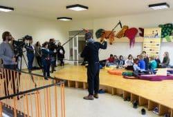 Auftakt zur Pressekonferenz der Stiftung Lesen. Foto: Phil Dera für DIE ZEIT