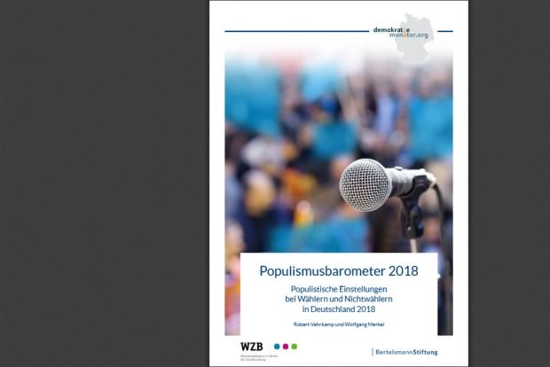Populismusbarometer 2018. Cover: Bertelsmann Stiftung
