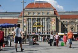 Kleiner Willy-Brandt-Platz. Foto: Ralf Julke