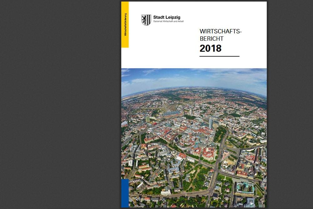 Wirtschaftsbericht 2018. Cover: Stadt Leipzig