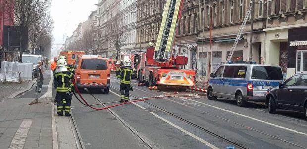 Einsatzgeschehen an der Eisenbahnstraße 113 am 26.11.2018. Foto 1: Karsten Tran